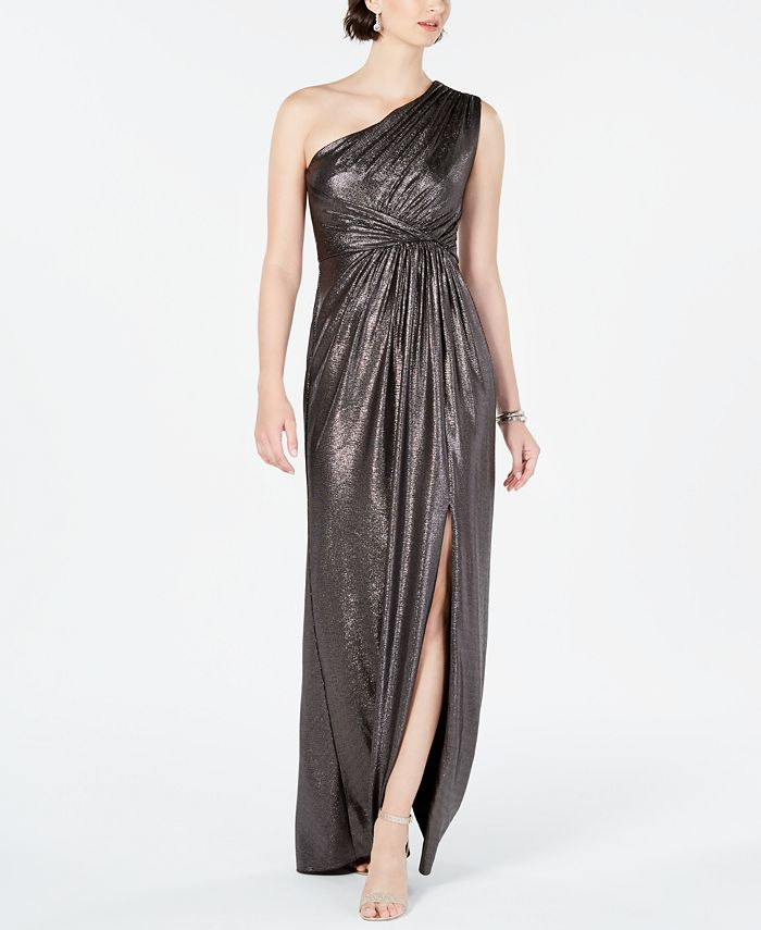 Adrianna Papell - Metallic Jersey Dress