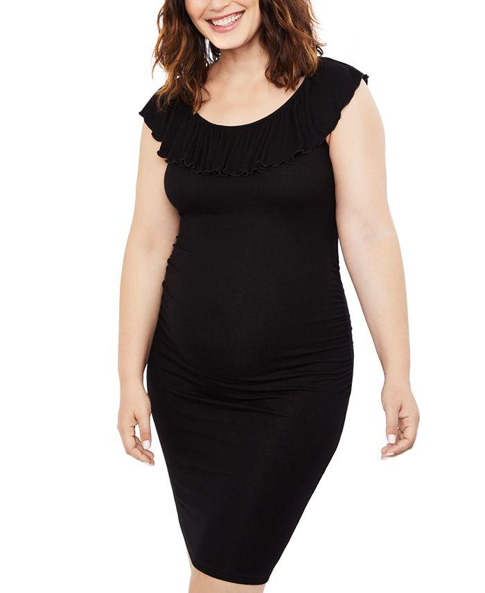 Motherhood Maternity - Maternity Ribbed Sheath Dress