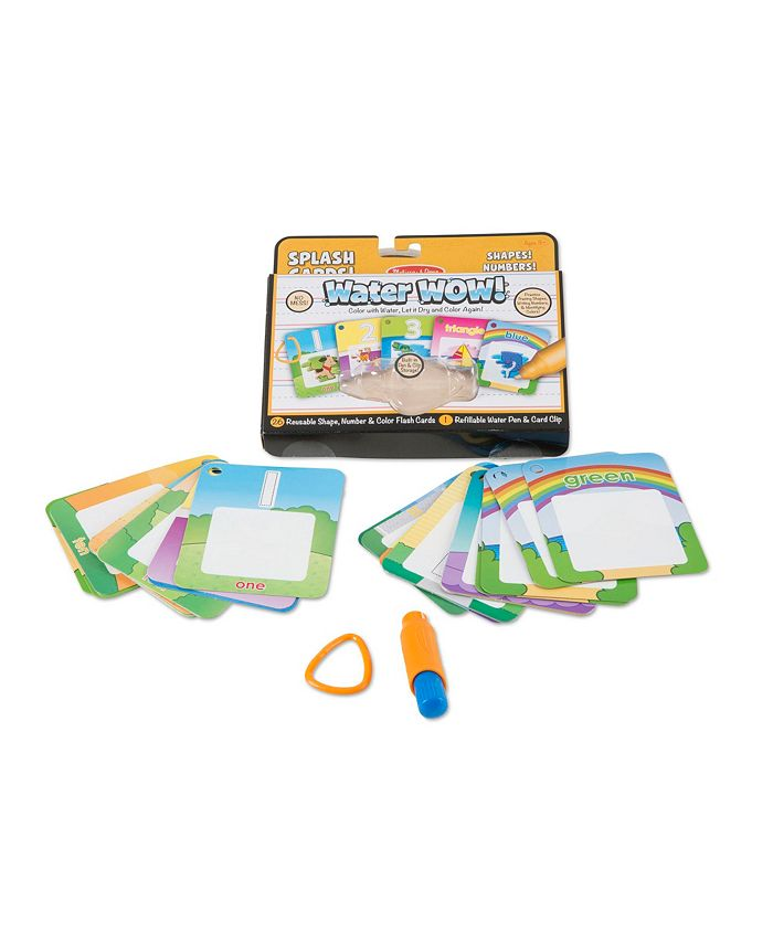 Melissa and Doug - Water Wow - Splash Cards Shapes, Numbers  Colors