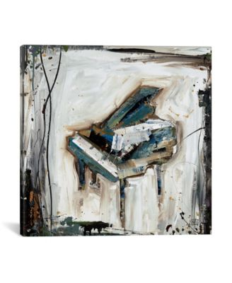 "Imprint Piano by Kelsey Hochstatter Wrapped Canvas Print - 26"" x 26"""