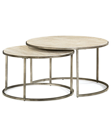 Monterey Coffee Table Round Nesting Furniture Macy 39 S