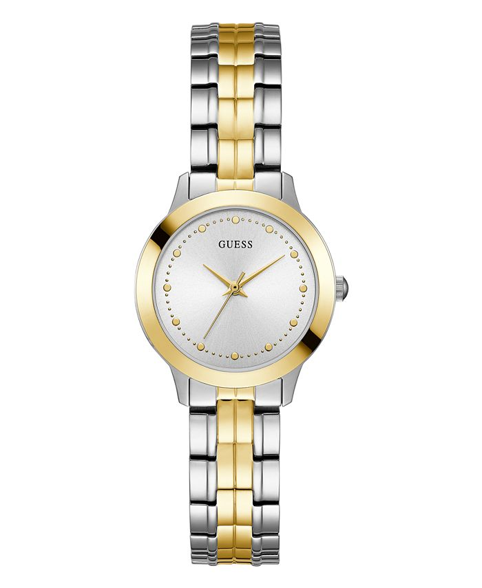 GUESS - Women's Casual/Dress with Two Tone Detailing Stainless Steel Bracelet Watch 30mm case