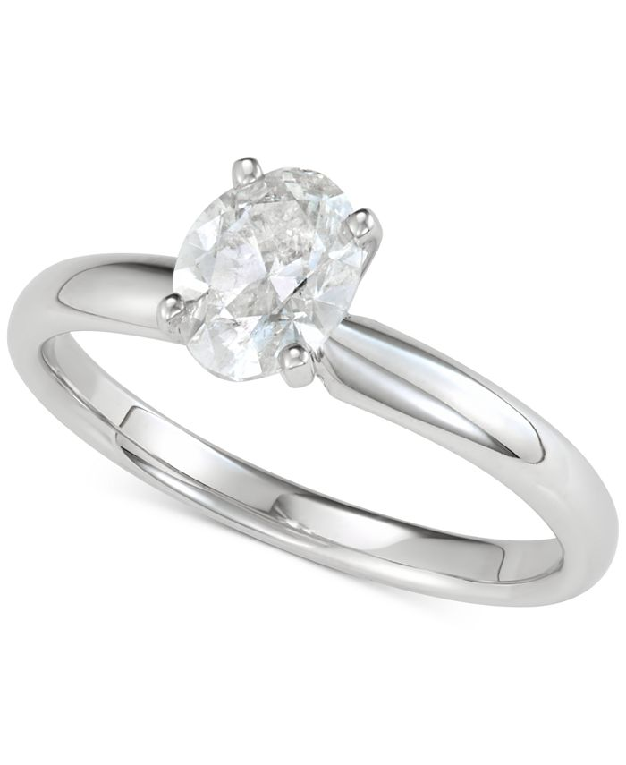Macy's - Diamond Oval Solitaire Engagement Ring (1 ct. t.w.)