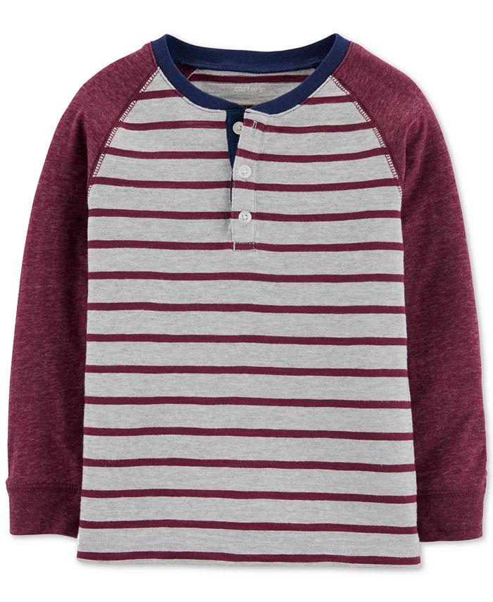 Carter's - Toddler Boys Striped Henley T-Shirt