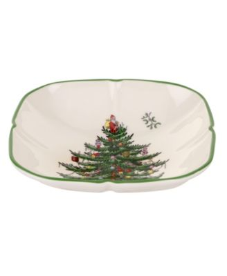 Christmas Tree Sculpted Square Dish