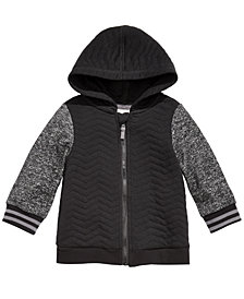 First Impressions Baby Boys Quilted Zip Hoodie, Created for Macy's