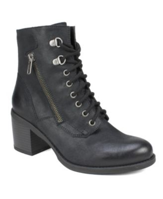 White Mountain Dorian Lace-Up Booties