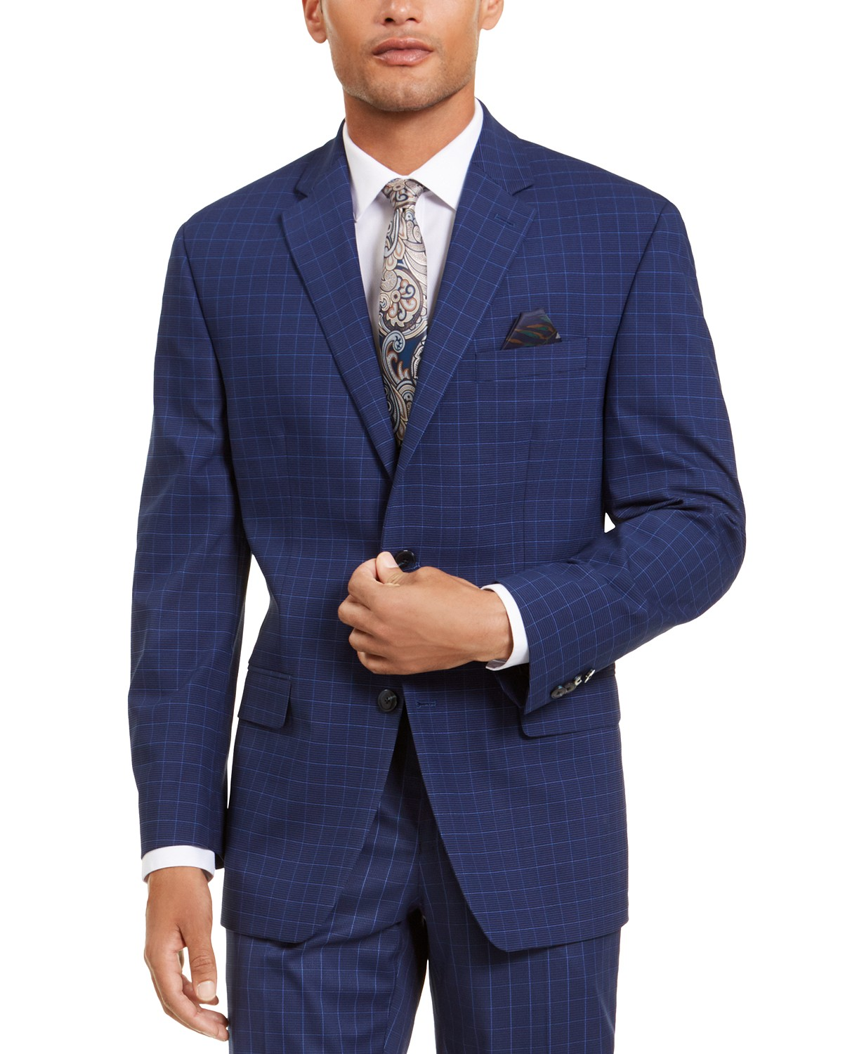 Sean John Men's Classic-Fit Stretch Suit Separate Jackets