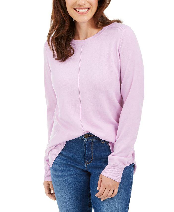 Karen Scott - Crewneck Long-Sleeve Sweater