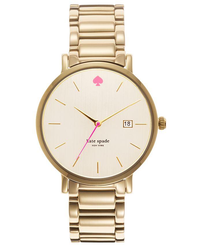 kate spade new york - Watch, Women's Gramercy Grand Gold-Tone Stainless Steel Bracelet 38mm 1YRU0009