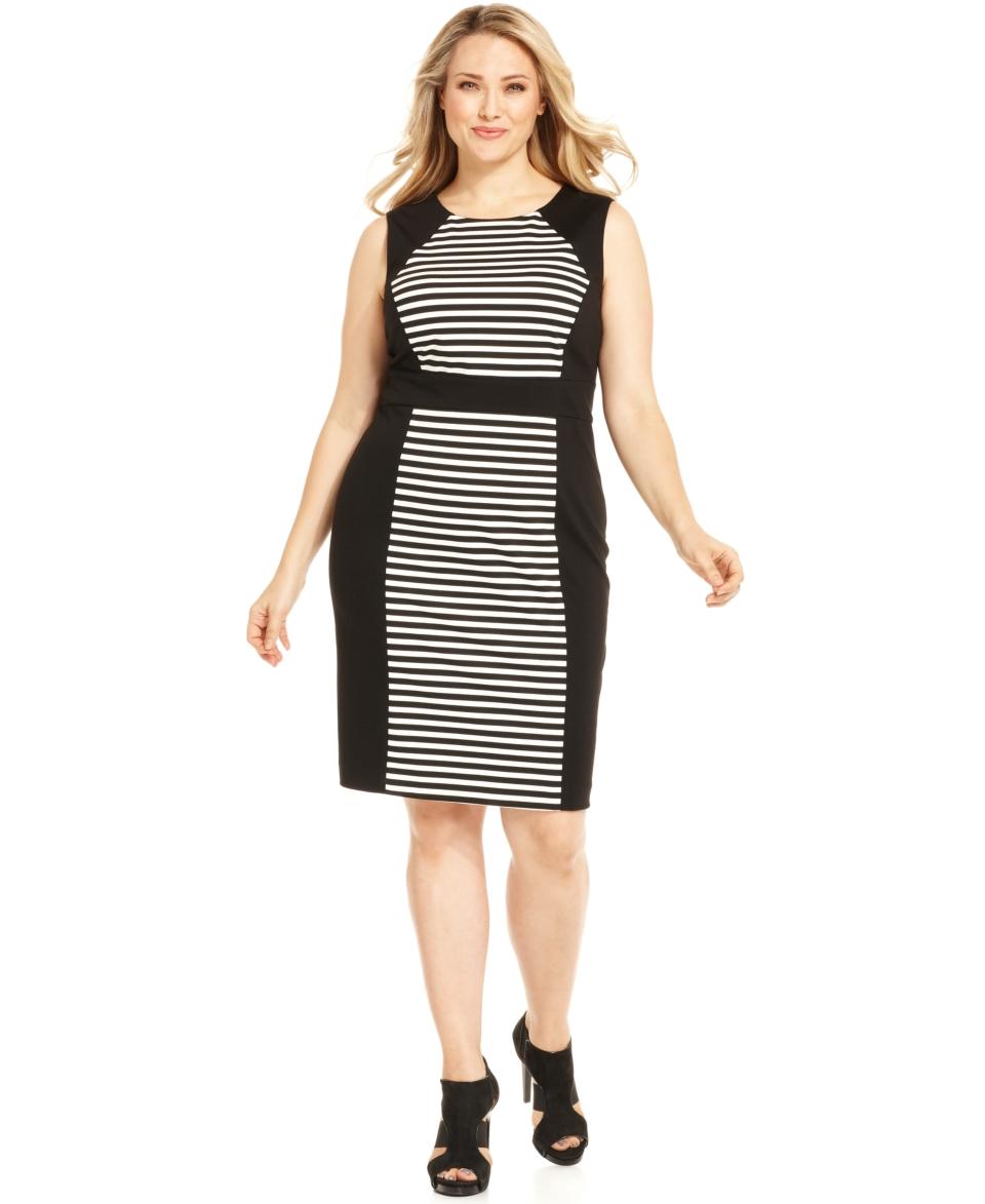 Calvin Klein Plus Size Dress, Cap Sleeve Gathered