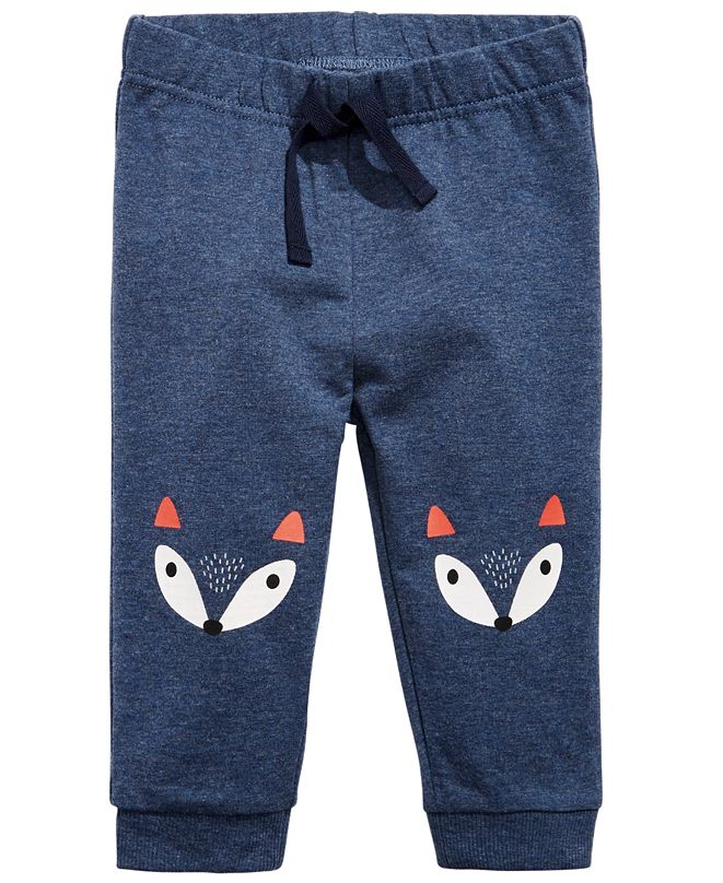 First Impressions Baby Boys Fox Knees Jogger, Created for Macy's