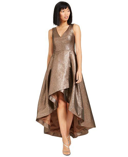 Calvin Klein Metallic High Low Ball Gown Reviews Dresses Women Macy S