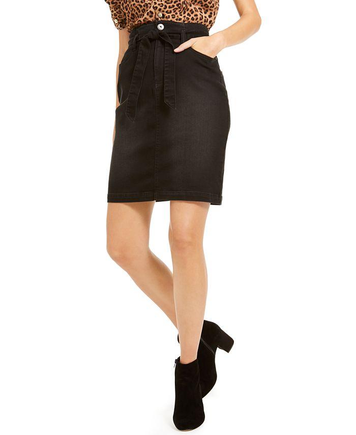 INC International Concepts - Curvy Paperbag Jean Skirt