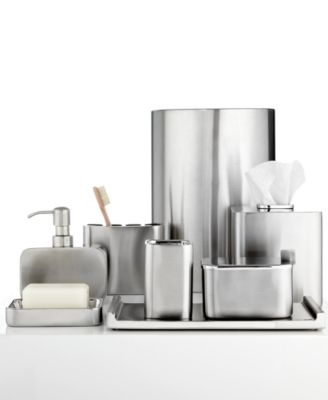 Hotel Collection Hotel Modern Brushed Stainless Steel Jar