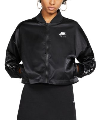 Air Cropped Satin Track Jacket