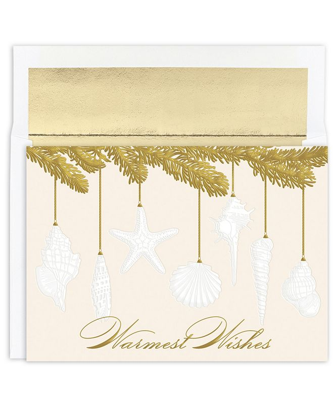 Masterpiece Cards Masterpiece Studios Shell Ornament Holiday Boxed Cards