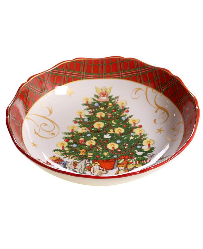 Certified International Vintage Santa Serving/Pasta Bowl