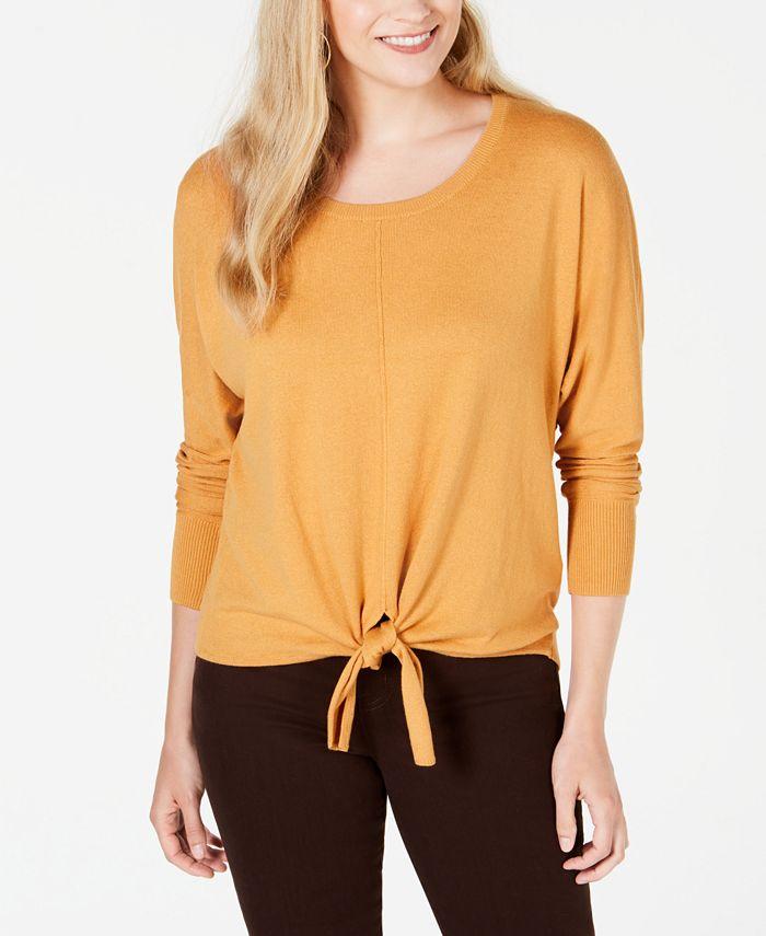 Style & Co - Tie-Hem Sweater