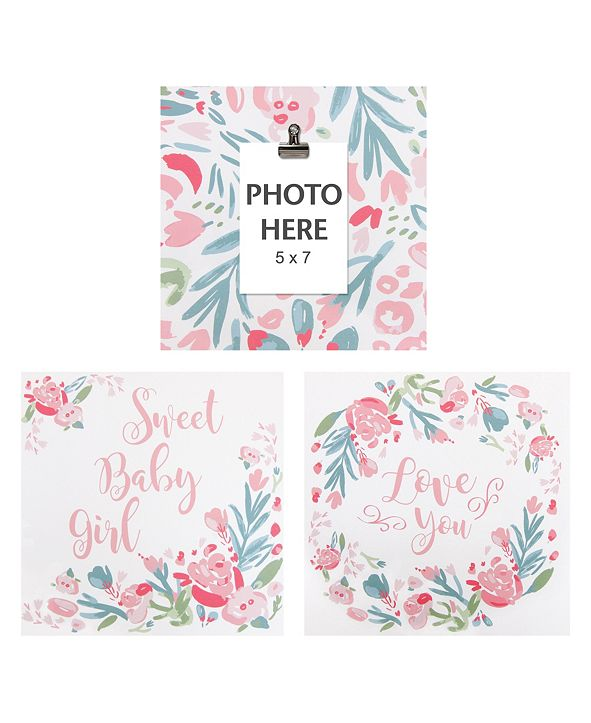 Trend Lab Painterly Floral Wall Art 3-Pack