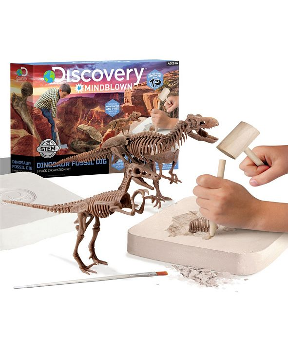 Discovery #MINDBLOWN Discovery MindBlown Toy Dinosaur Excavation Kit Skeleton 3D Puzzle - STEM
