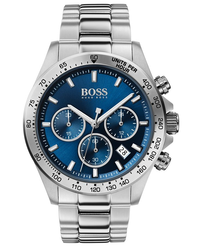 BOSS - Men's Chronograph Hero Stainless Steel Bracelet Watch 43mm