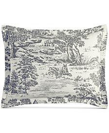 Martha Stewart Collection Fox Toile Flannel Standard Sham, Created for Macy's