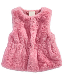 First Impressions Baby Girls Plush Vest, Created for Macy's
