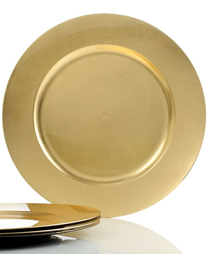 Charter Club - Gold Charger Plates, Set of 4