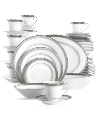 Noritake Crestwood Platinum 50-Pc. Service for 8