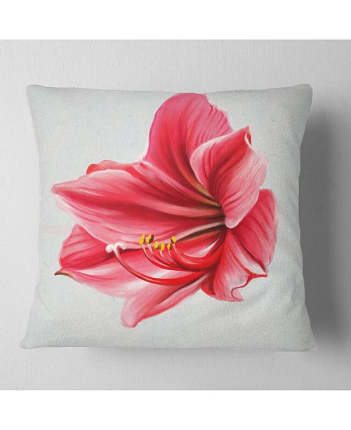 Design Art Designart Big Red Flower Sketch On White Floral Throw Pillow 16 X 16 Reviews Decorative Throw Pillows Bed Bath Macy S