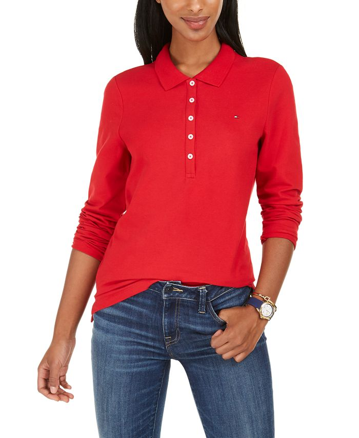Tommy Hilfiger - Long-Sleeve Polo Top