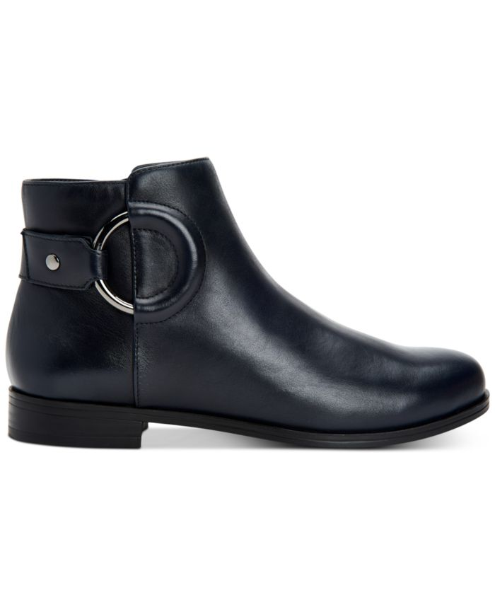 Alfani Women's Step 'N Flex Avvia Leather Booties , Created for Macy's & Reviews - Boots - Shoes - Macy's