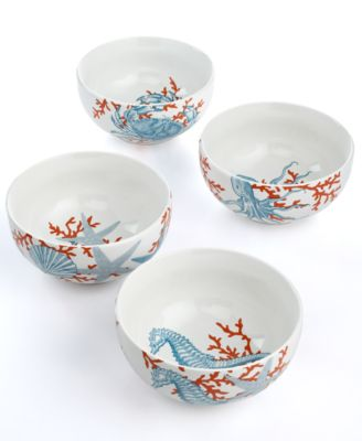 222 fifth set of 4 coastal life assorted mugs serveware for 222 fifth dinnerware