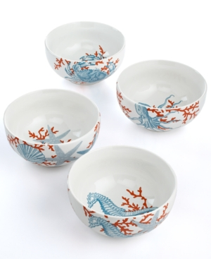 222 Fifth Dinnerware, Set of 4 Coastal Life Assorted Ice Cream Bowls $ 50.00
