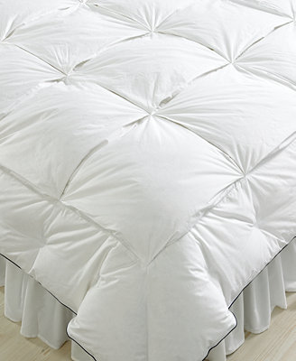The pacific coast stratus oversized down comforter features a unique