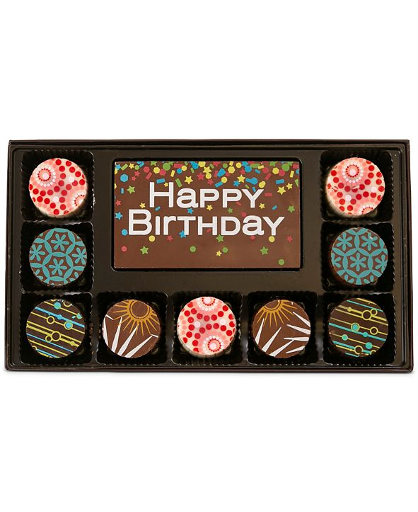 Chocolate Works 10-Pc. Birthday Gourmet Chocolate Truffles