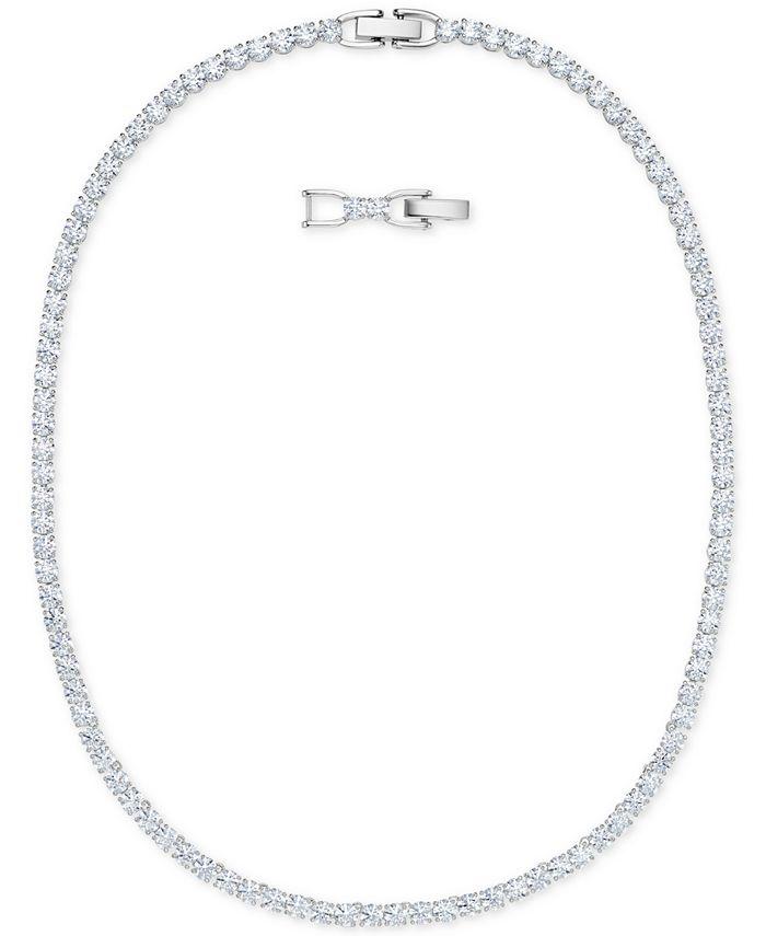 "Swarovski - Rose Gold-Tone Crystal Collar Necklace, 14-7/8"" + 1"" extender"