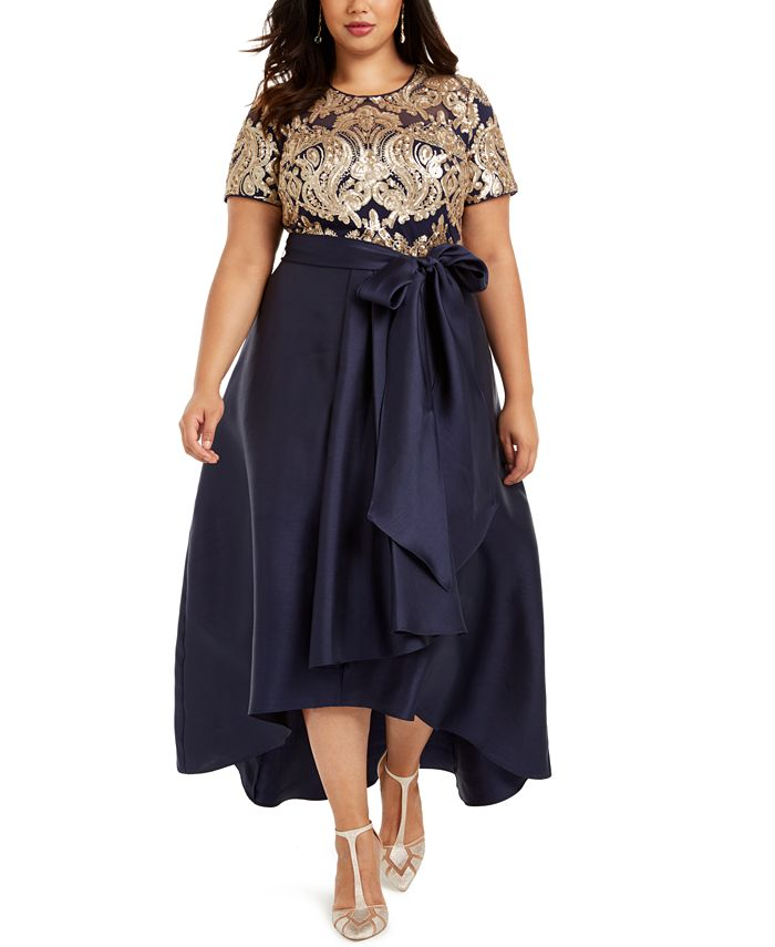 R & M Richards - Plus Size Embellished Gown