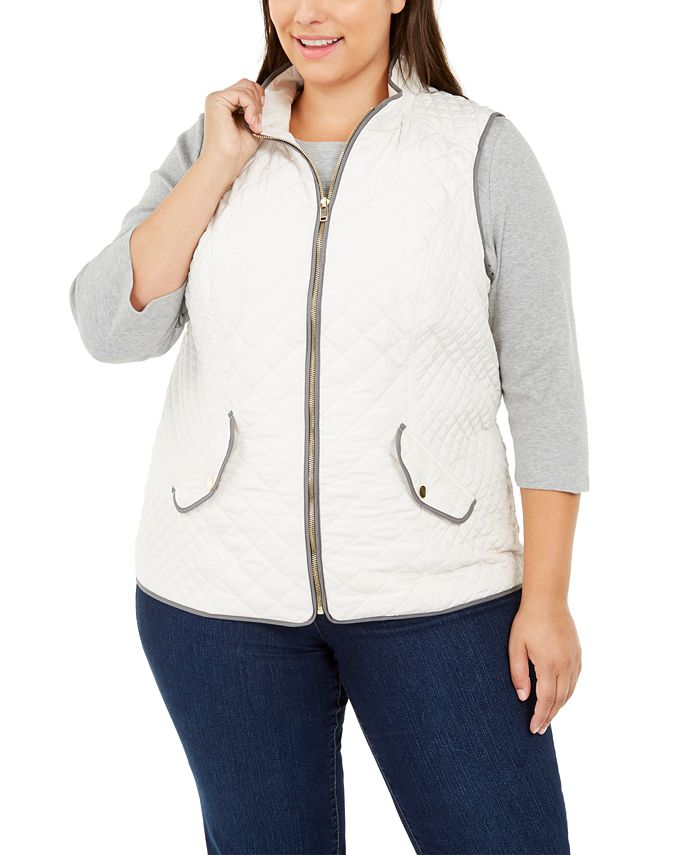 Charter Club - Plus Size Quilted Vest