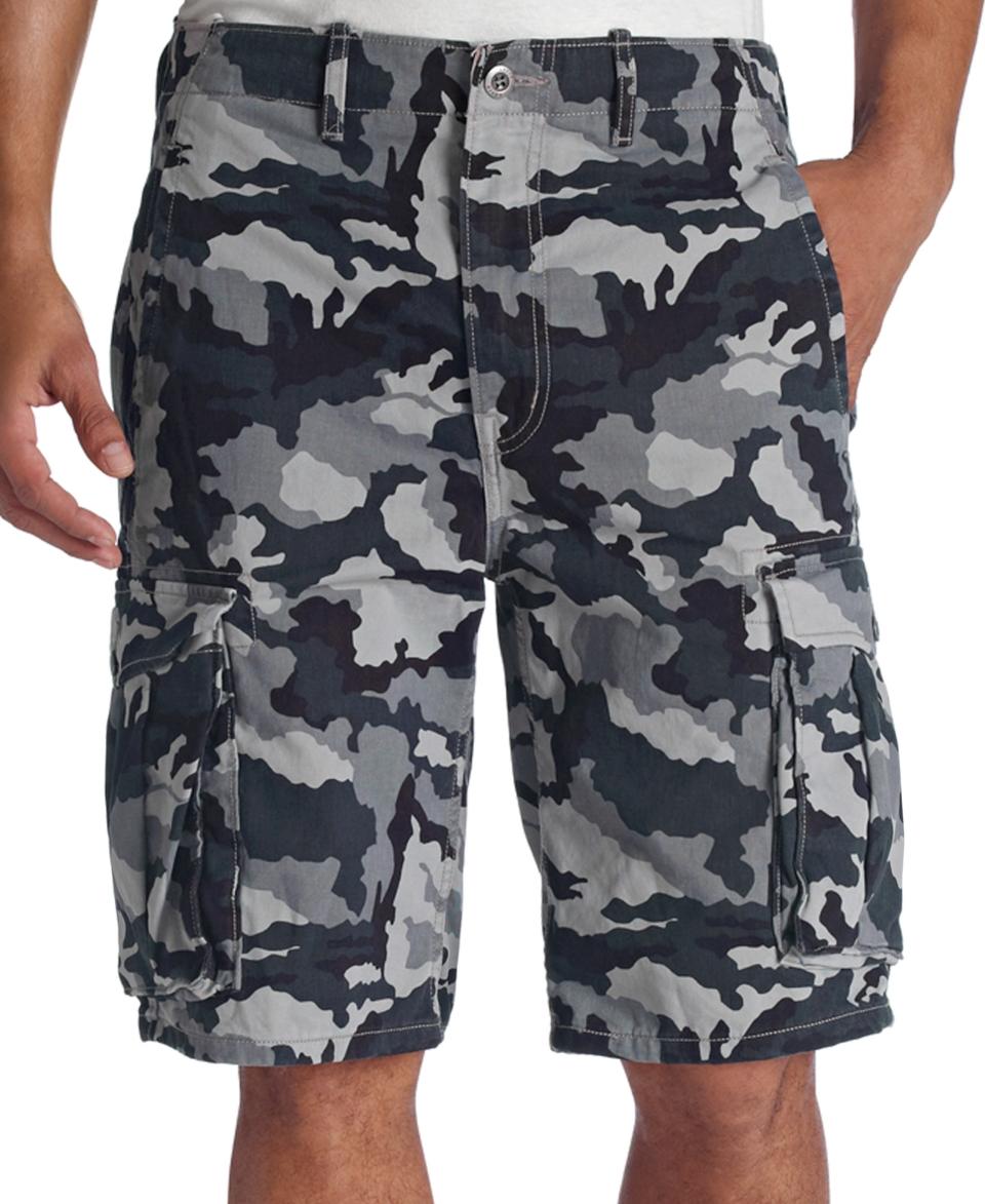 Levis Ace Cargo Shorts, Black Camo   Shorts   Men