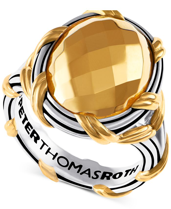 Peter Thomas Roth - Oval Statement Ring in Sterling Silver & Gold-Plate