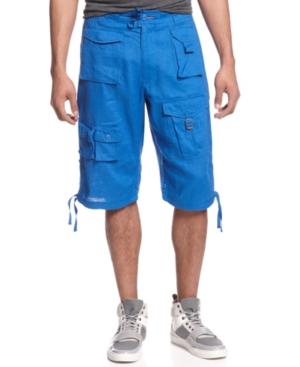 Sean John Shorts Linen Flight Shorts