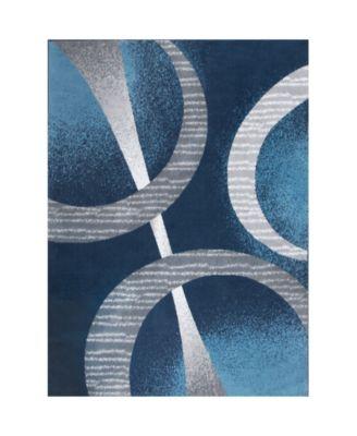 "Global Rug Design Loma LOM02 Dark Blue 7'8"" x 10'7"" Area Rug"