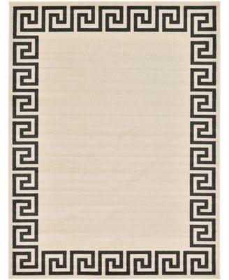 Anzu Anz2 Beige/Black 8' x 8' Round Area Rug