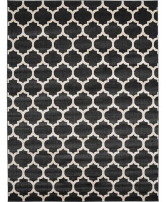 Arbor Arb1 Black 6' x 6' Square Area Rug