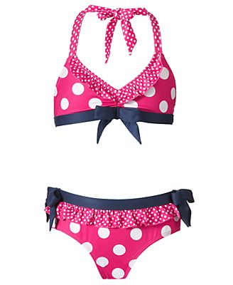 Pink Platinum Kids Swimwear, Girls Polka Dot Bikini