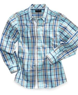 Sean John Kids Shirt Boys Sand Plaid Shirt