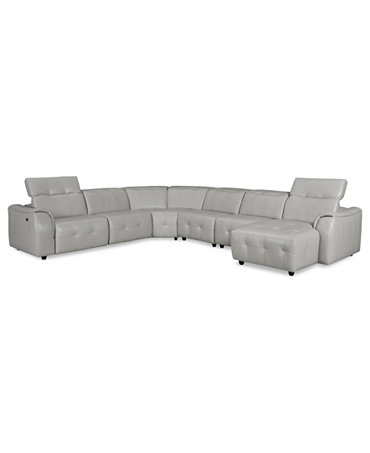 novara leather 6 piece power reclining sectional sofa With novara leather reclining sofa 6 piece power recliner sectional