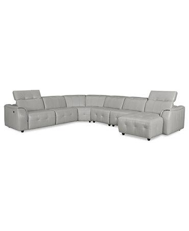 novara leather 6 piece power reclining sectional sofa With novara leather 6 piece power reclining sectional sofa